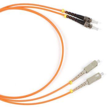 Hyperline FC-D2-50-ST/PR-ST/PR-H-5M-LSZH-OR Патч-корд MM 50/125,ST-ST, 2.0 мм,duplex,LSZH, 5 м
