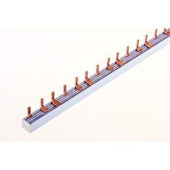 Шина соединительная типа PIN (штырь) 3-фазная 100А (1м)