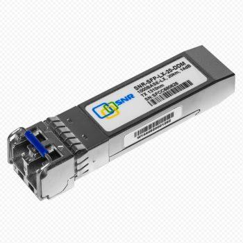 SNR-SFP-LX-20-DDM SFP 1000BaseLX, разъем LC, рабочая длина волны 1310нм, дальность до 20км
