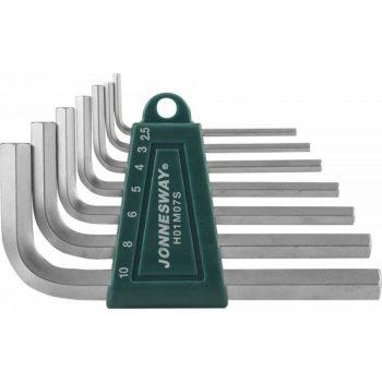 Комплект угловых шестиграников LONG Jonnesway H05SM107S