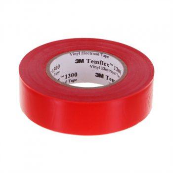 Изолента ПВХ красная 19 мм 20 м. Temflex 1300 (7100080341) 3М