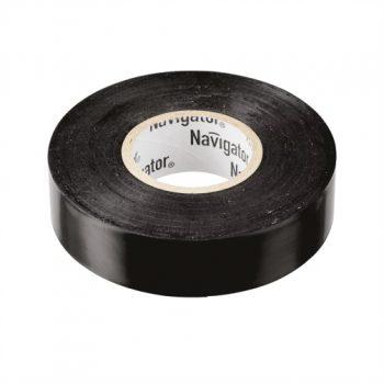 Изолента ПВХ черная 19мм 20м Navigator NIT-A19-20/BL