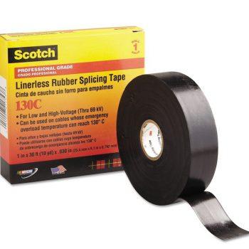 Изолента резиновая черная 25мм 9.1м Scotch 130С