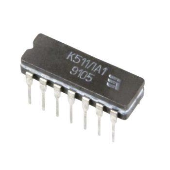 """К511ЛА1 (89-97г), Микросхема, 4 логических элемента """"2И-НЕ"""" (Н102)"""
